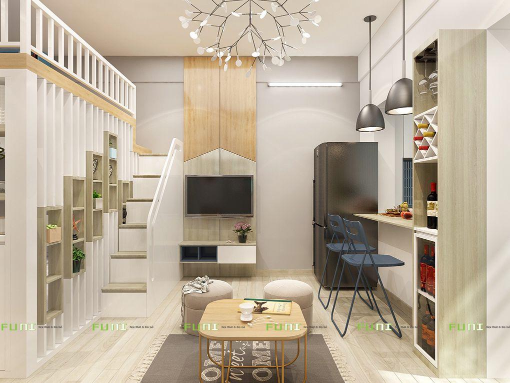 nội thất căn hộ chung cư nhỏ 4