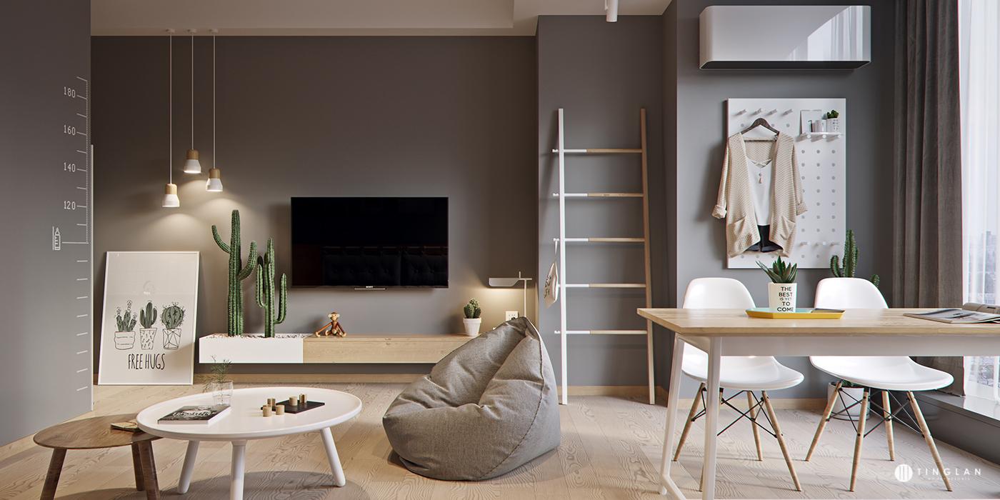 nội thất căn hộ chung cư nhỏ 5