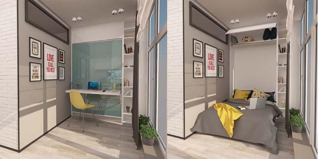 nội thất căn hộ chung cư nhỏ 6